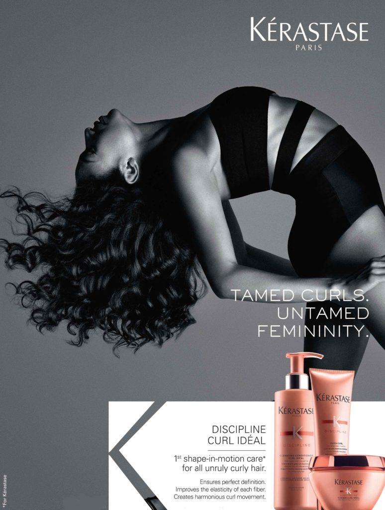 Tame curls with new Kérastase Discipline Curl Idéal.