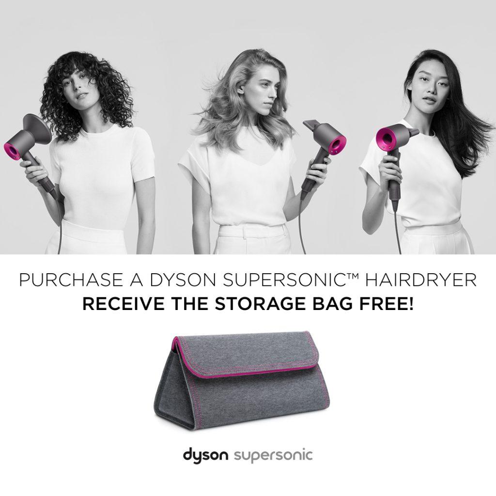 FREE Dyson Supersonic™ hair dryer storage bag